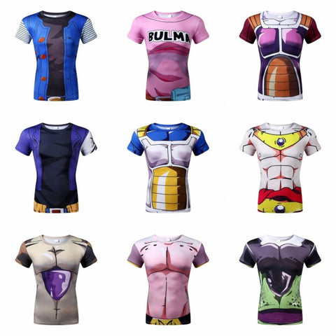 animation 3D tight short sleeve T-shirt