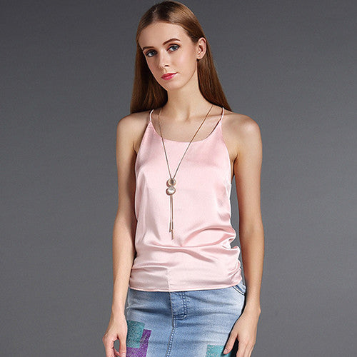 Silk Halter Top
