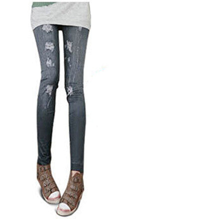 Jeans Hole Printed - awashdress