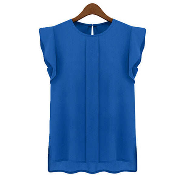 Sleeveless Chiffon Top