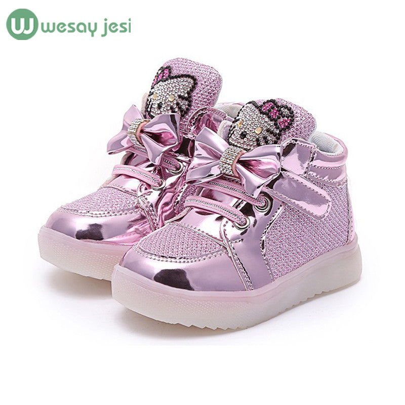 Girls shoes glowing sneakers - awashdress