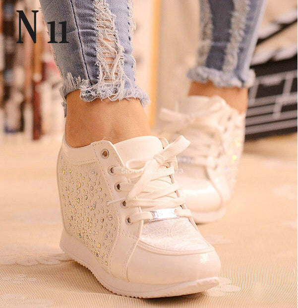Casual wedge heel Rhinestone shoes