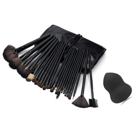 24 Pcs Professional Makeup Brushes Cosmetic Tool Kit - awashdress