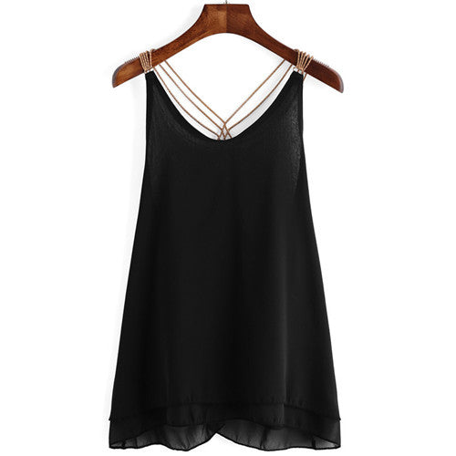 Chain Strap  Camisole - awashdress