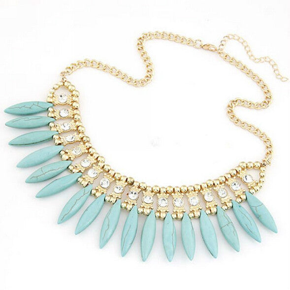 Crystal  Chunky Statement necklace - awashdress