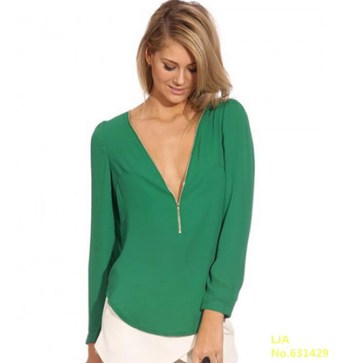 Long Sleeve Zipper Top