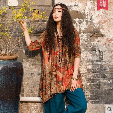 Ethnic Floral Tunic - awashdress