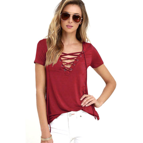 Lace Up Top - awashdress