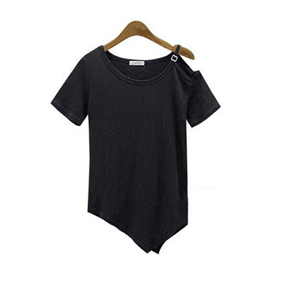 Off the Shoulder Strap T Shirt
