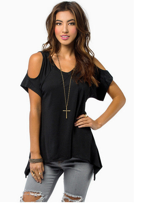 Hem Off Shoulder Top - awashdress