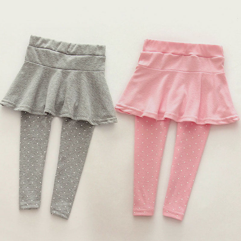 6Colors Toddler Cozy Pantskirt Girl Wool Culotte Kids Child Legging Trousers - awashdress