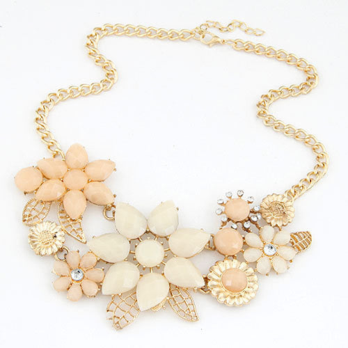 Statement Necklace Flower Collier