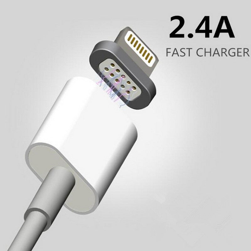 quality design ab60c 8e401 2.4A Magnetic Cable Micro Usb Cable for Apple iPhone 6 5 5s 6s Plus  Charging Cable Android for Samsung HUA WEI Mobile Phone