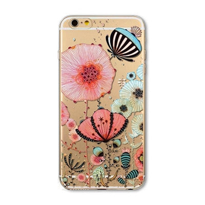 Soft Silicon Transparent Mobile Phone Cover