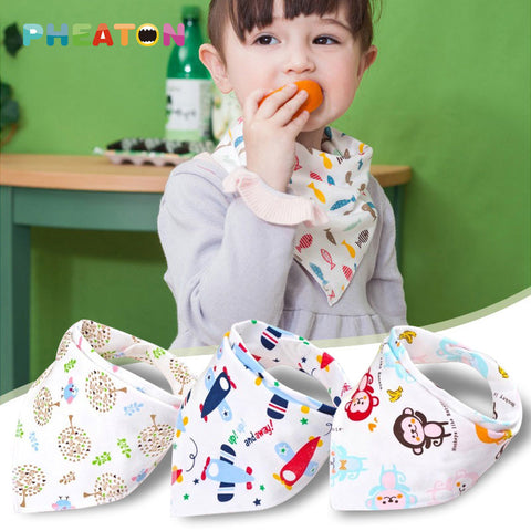 Double Layer Cartoon BabyBandana Bibs - awashdress
