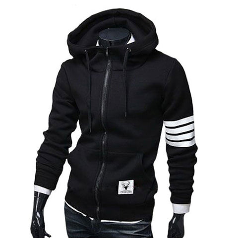 Leisure Suit Hoodie Casual Zipper Jackets - awashdress