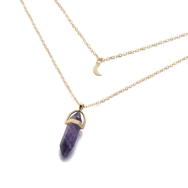 Choker Color Crystal Pendant Necklace