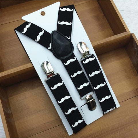 Cute Print Mustache Suspenders Belts For Kid