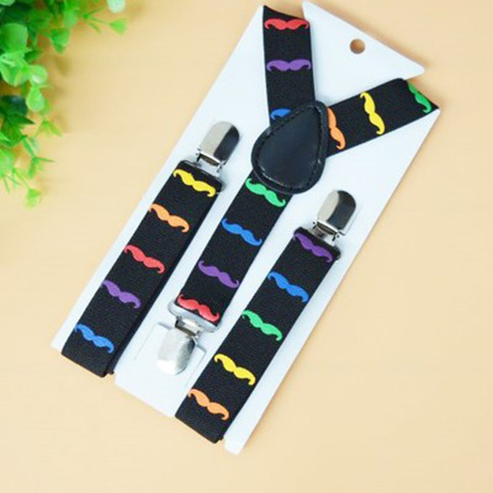 Cute Print Mustache Suspenders Belts For Kid - awashdress