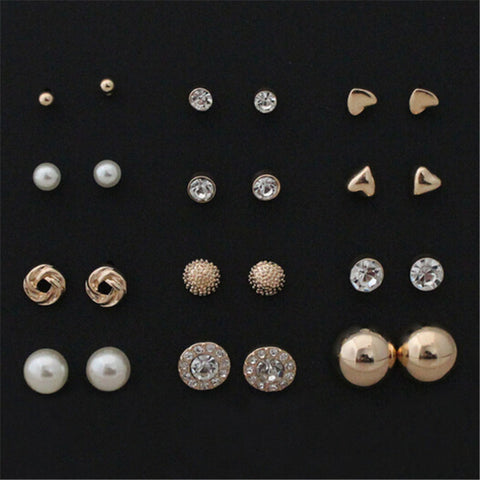 12 pairs Cute Earring Sets - awashdress