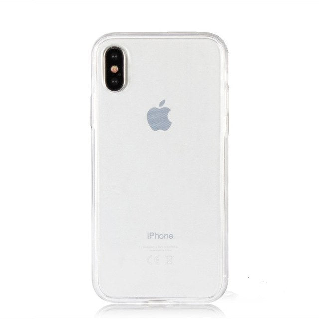 iP-X Silicone Touch Full body Transparent Case for iPhone 10 X Cover Soft Phone bag Crystal Cases for iPhone10 iPhoneX iPhone-X