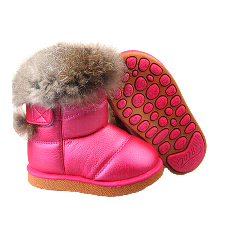 Kids Fur Ankle Snow Boots - awashdress