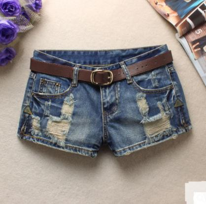 Low Waist Deim Shorts Ripped jeans