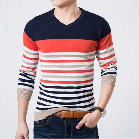 Men v-Neck slim Sweater