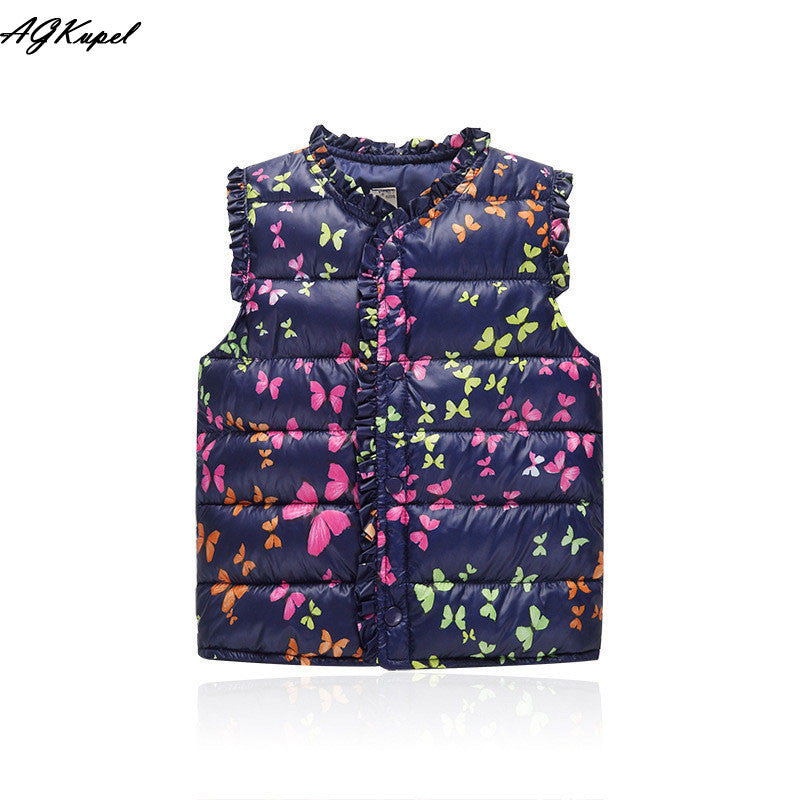 Sweet Floral High Quality Vest Outerwear