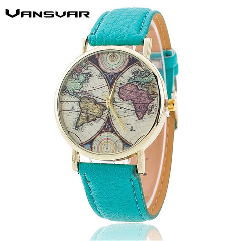 World Map Watch Casual Women