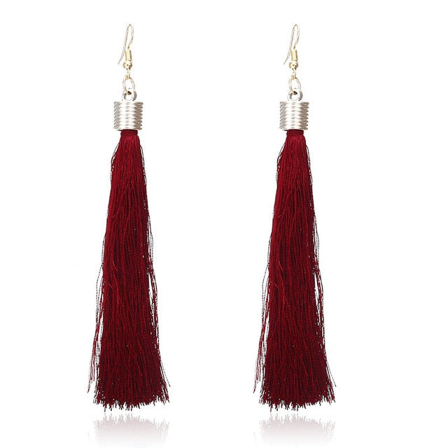 Tassel Jewelry Bridal Vintage Long Earings
