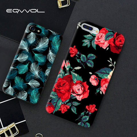 256153ff6a4 Eqvvol Fashion Flower Pattern Phone Case For iPhone X 7 6 6s Plus Soft TPU  Cases For iPhone 10 Cover Shell. $5.58. Clear Transparent Crystal Case For  Apple ...