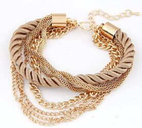 Fashionable Rope Chain Decoration Bracelet - awashdress