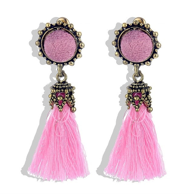 Round Dangle Earring Female Statement