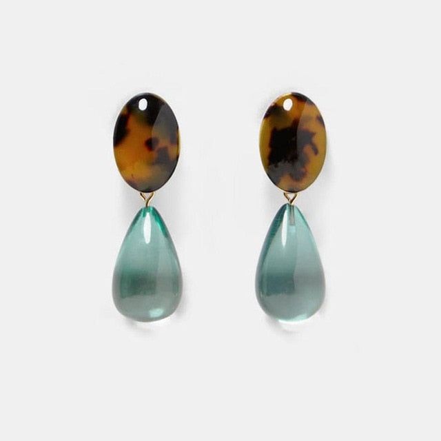 Resin Drop Earring