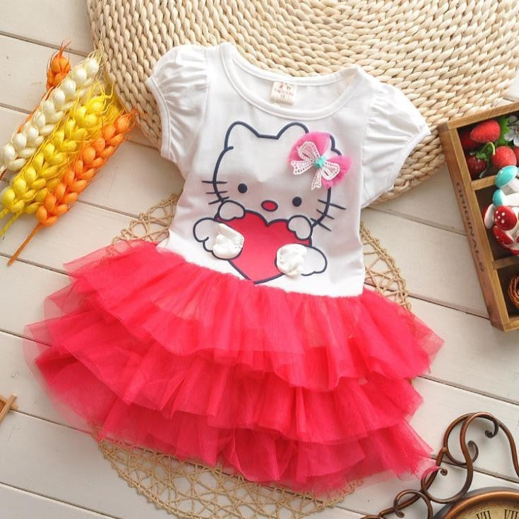 Hello kitty cartoon tutu dress - awashdress