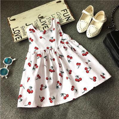 Sleeveless Print Pattern Cotton Dresses
