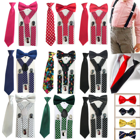 3PCS Suspenders kids Boys - awashdress