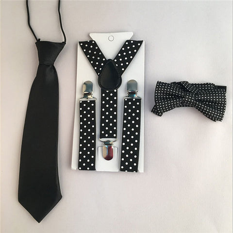 3PCS Suspenders kids Boys