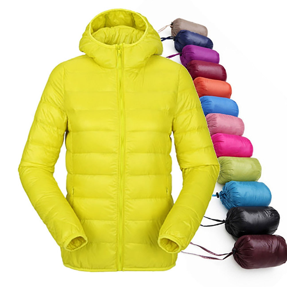 Ultra Light Hooded Slim Jackets Long Sleeve