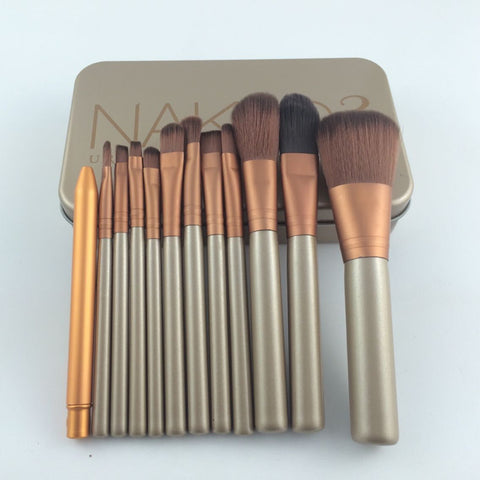 12pcs/set Professional Make Up Brush kit