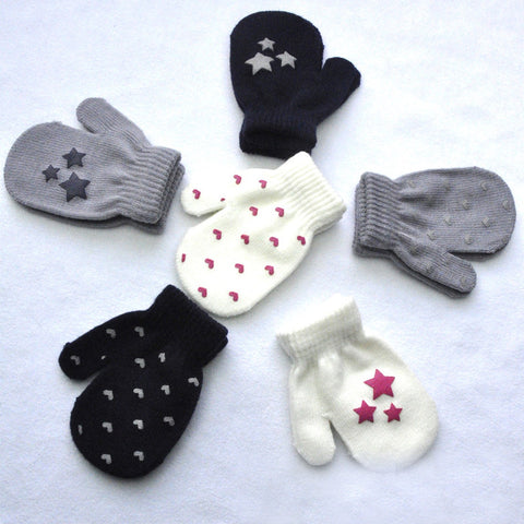 Warm Knitted winter gloves kids