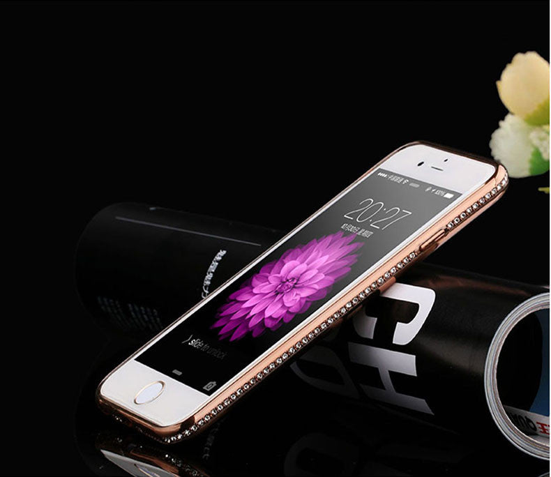 Rhinestone Frame Case For iphone Ultra Thin