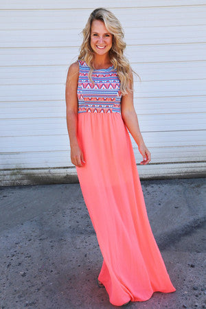 elegant boho maxi dress - awashdress