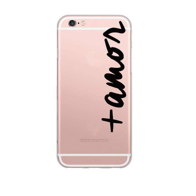 Words Design Transparent Soft Silicon Phone Case