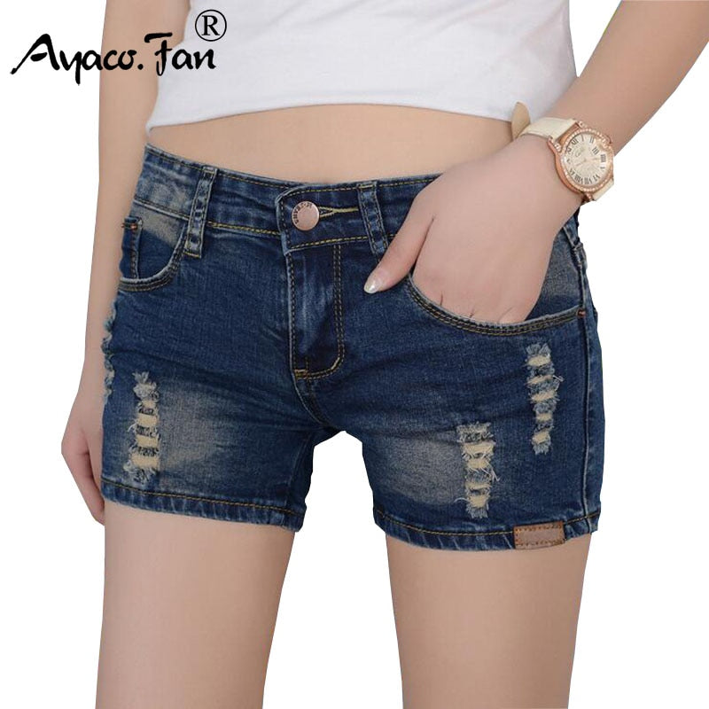 Dark Blue Shorts Skinny denim jeans