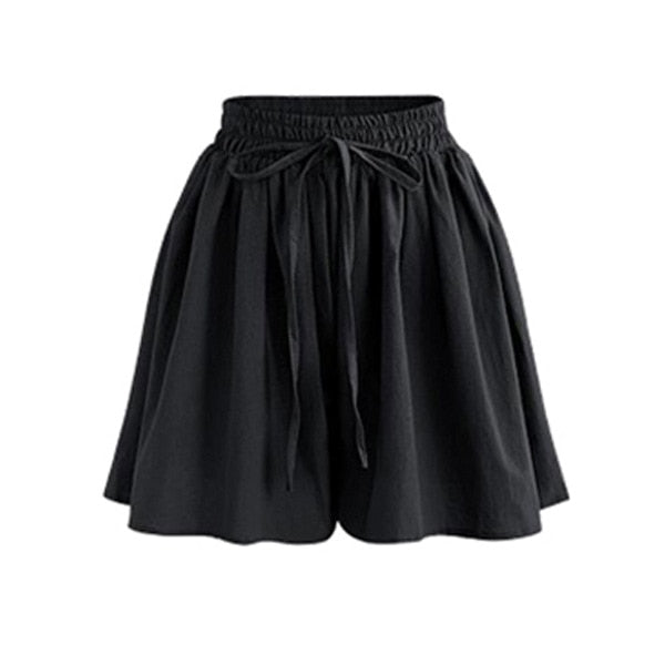 High Waist Loose Chiffon Shorts