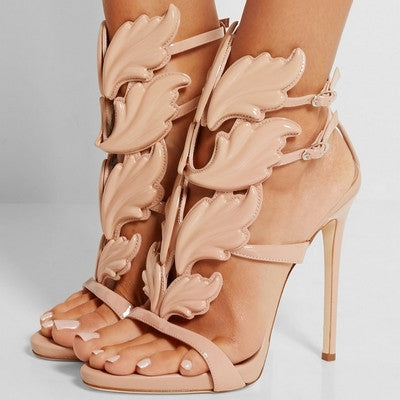 Metallic Winged Gladiator Women Sandals
