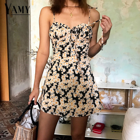 Tied Halter Backless Polka Dot Beach Dress Women Sexy Dress
