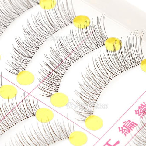 10 Pairs Handmade Natural Fashion False Eyelashes
